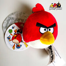 PORTACHAVI • Angry Bird RED Keychain Furry Toy ORIGINALE PELOSO ROVIO NUOVO