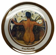NEW Rosenthal Diego Rivera 1944 Nude Callalilies Portrait Plate - 24k Gold W298