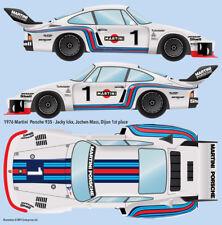 1976 Martini Porsche 935 Water Transfer Decals 1/20 scale for Tamiya