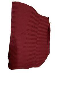 Hoime Standard Flat Sheet Burgandy Stripe Queen Size A1