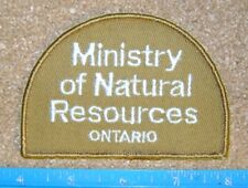 ONTARIO MINISTRY OF NATURAL RESOURCES PATCH mnr,L+F,dnr,Conservation Officer