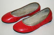 Girls Peek Red/Gold  Ballet Flats US 1.5