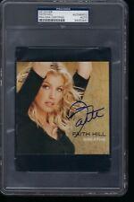 FAITH HILL BREATHE AUTOGRAPHED CD COVER SLABBED PSA DNA