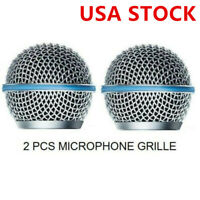 2× Microphone Grill Mic Grille Ball Head Mesh for Shure Beta58A SM58 pgx24 slx24