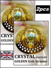 2pcs cristallo gestiti oro * lavello TOMBINI ~ BAGNO DOCCIA ~ ~ NUOVO!