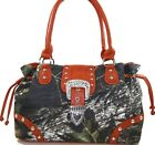 Mossy Oak Camo & Red Purse, Camouflage Handbag Drawstring
