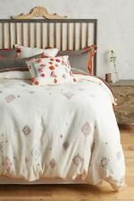 Anthropologie Embroidered Palermo Queen Duvet New