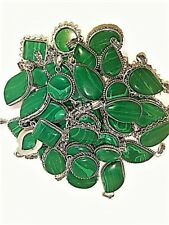 100 PCs. Green MALACHITE Gemstone 925 Silver Plated Necklace Pendant Jewelry