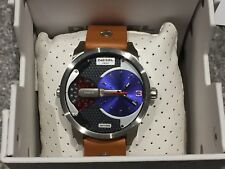 Diesel Mini Daddy Mens Brown Leather Chronograph Watch DZ7308