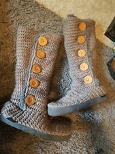 Muk Luks Women's Knit Sweater Boots Cold Weather Size m 7-7.5