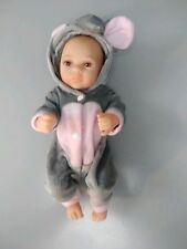 "11"" Reborn Newborn Mini Baby Doll Silicone Vinyl Elephant Clothes Boy"