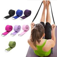 1Pc Adjustable Sport Stretch Strap D-Ring Belts Gym Waist Leg Fitness Yoga B wr