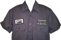 Rockabilly Garage Bowling Hot Rod Men's Grey Kustom Shirt >> Emporium 44 L@@K