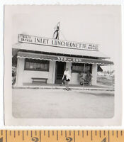1940s/50s Yed & Ed's Inlet Luncheonette Both Bait & Meals VINTAGE Photo SNAPSHOT