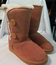 Pre-owned Camel Tan Suede Ugg Boots - Size 8 Med
