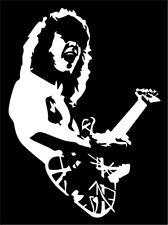 Eddie Van Halen VINYL DECAL bumper sticker, OU812, 5150, cd 4x5.5