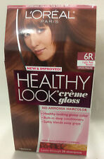L'Oreal Healthy Look Creme Gloss Hair Color,LIGHT RED BROWN #6R / SPICED PRALINE