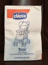 Chicco Trevi Stroller Owner's Instructions Manual FREE SHIPPING <