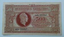 """Billet/banknote . FRANCE 500 Francs """"MARIANNE"""" 1945 lettre L"""