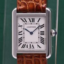 CARTIER TANK SOLO 2716 STAINLESS STEEL QUARTZ LADIES WATCH