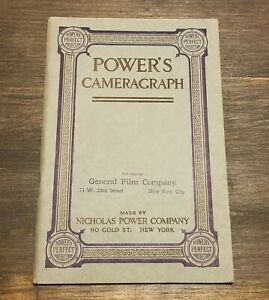 1913 POWER'S CAMERAGRAPH CATALOG MOTION PICTURE MOVIE FILM SUPPLY ILLUSTRATED