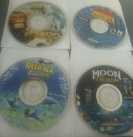 Lot of 4 PC Computer Games Moon Deep Sea Mall Deluxe 2 Zoo Tycoon 2 Disc Only