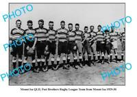 OLD LARGE PHOTO, MOUNT ISA QLD, BROTHERS RUGBY LEAGUE TEAM c1929