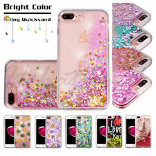 Apple iPod Touch 5 6 Gen Bling Case Cover Hybrid Liquid Glitter Rubber Protector