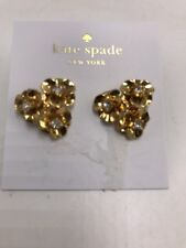 $58 Kate Spade shine on pave flower  Cluster Studs Earrings Gold-tone M42
