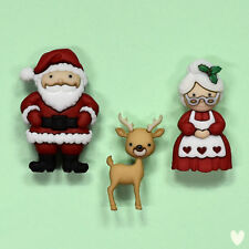 DRESS IT UP Buttons Mr & Mrs Claus 9499 - Embellishment - Xmas - Christmas