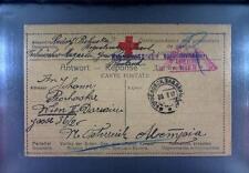 Camp 1917 Russia Siberia POW Kriegsgefangenenpost Rotes Kreuz Red Cross 104