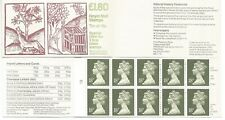 1988  £1.80  Folded Booklet  -  FU6aa   Cyl  B1