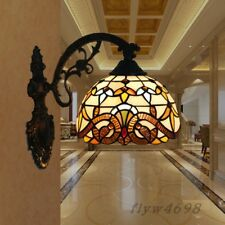 Tiffany Style Stained Glass Wall Sconce Wall Lamp for Indoor Bedroom Fixture