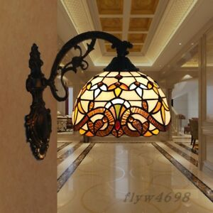 HOT Style Stained Glass Wall Sconce Wall Lamp for Indoor Bedroom Fixture