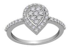 Hand Engagement Ring Appraisal 14K White Gold I1 G 0.55 Ct Natural Diamond Right