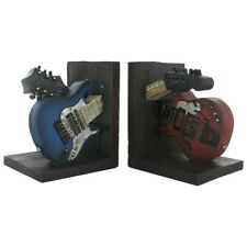 Guitar Shelf Tidy Bookends Vintage Retro Style