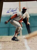 Lou Brock autograph signed inscribed 3023 8x10 photo St.Louis Cardinals HOF 85 C