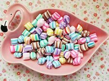 6 x Assorted Color Small Pillow Mint Candies Cabochon Decoden Embellishment DIY
