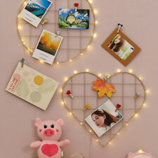 Wall Decorative Iron Wall Photo Grid Panel Rack Painted Wire Photogrsh