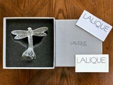 """Lalique""""Dragonfly Figurine - Gorgeous Clear Crystal Mint & Signed with Box"""