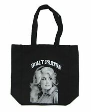 Dolly Parton Classic Pic Image Black Tote Bag New Official Merch Shoulder