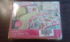 Just For Kids Green Dot Twin Sheet Set Childrens Sheets, New