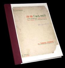 l'An Mil poème symphonique avec choeurs partition piano 1898 Gabriel Pierné