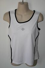 Champion White and Black Athletic/Workout Tank Top Womens Size M