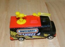 1997 Matchbox Tv News Truck Yellow, Red & Black