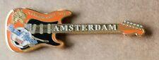 HARD ROCK CAFE AMSTERDAM FOOTBALL GUITAR PIN SOCCER