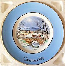 "Avon Christmas Plate 1979 Dashing Through The Snow Wedgwood England 8-3/4"""