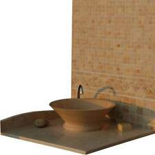 """Natural Stone Sink Hand Carved Classic Travertine Vessel Sink 16.5""""x5.9"""" (42x15)"""