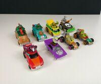 2015 Teenage Mutant Ninja Turtles T-Machines Cars Vehicles set of 8 Diecast TMNT