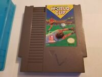 NINTENDO NES Game Cartridge WORKS SUPER FUN WORLD CUP SOCCER Hard Case Free Ship